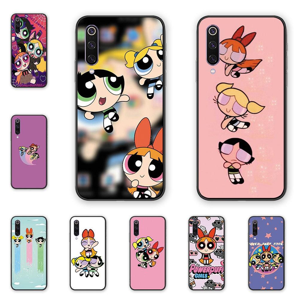 De dibujos animados lindo Power Puff chica teléfono caso TPU cubierta trasera de silicona para Xiaomi 5 5S 5Splus 6 6X 8 8lite 9 9SE CC9 CC9E mezclar 2 2S 3