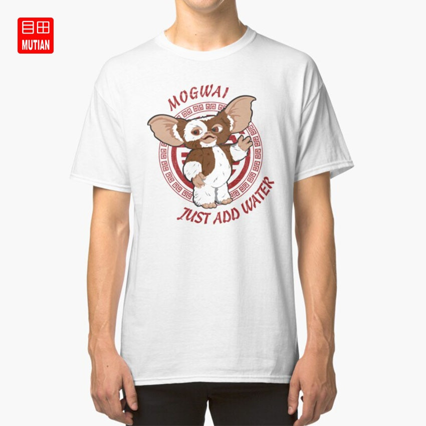 Gizmo camiseta gizmo gremlins steven spielberg Solo agregue agua clásico de culto películas de los 80 mogwai chino criaturas arte divertido