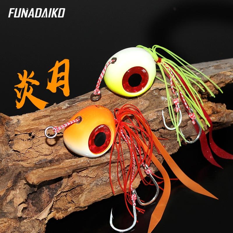FUNADAIKO Deep Sea Bait Lure 60g 80g 100g 120g 150g Jig Head With Rubber Skirt Assist Kaburas Inchiku Madai Jigging