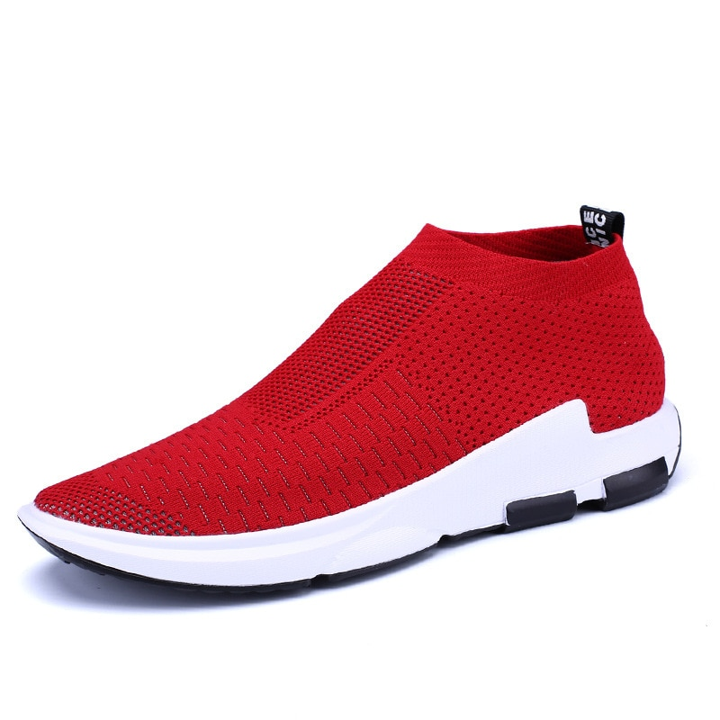 New Summer Breathable Men Shoes Casual Shoes Men Fashions Male Mesh Shoes Men Sneakers Big Size Zapatillas Hombre red 2019 New