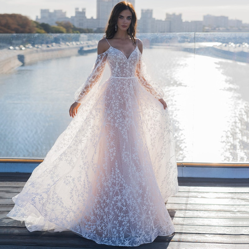 Long Sleeves Prom Dress Gold Appliques Mermaid Evening Dresses For Women Party wedding Gowns