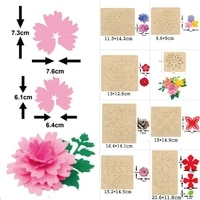 beautiful flower cutting die 2020 new fake flower making craft wooden die suitable for common die cutting machines on the market