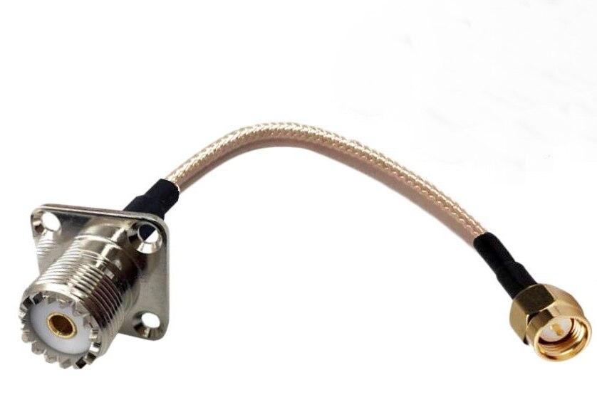 كابل محوري RG316 ، Sma ذكر إلى لوحة أنثى Uhf ، 4 فتحات ، 30 قطعة