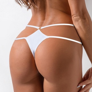 Thin Strap Hollow Panties Women Sexy G-String Soft Lingerie Low Rise Thong Breathable Female Underwear 2021 Briefs