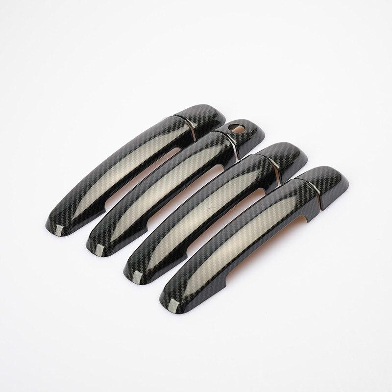 Nuevo adhesivo de fibra de carbono cromado cubierta de manija de puerta de coche para Suzuki Ertiga Mazda VX-1 Proton Ertiga 2012-2017 accesorios para coche