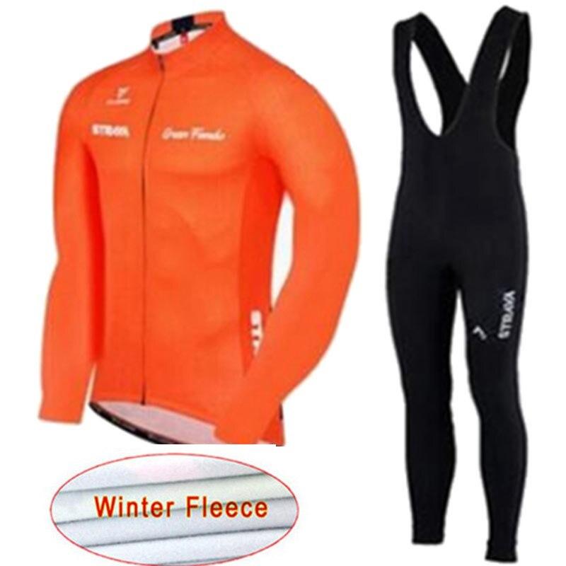 Conjunto de Invierno de lana térmica para Ciclismo Ropa para bicicleta MTB...