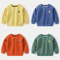 childrens hoodies sweatshirts girl kids white tshirt cotton pullover tops for baby boys autumn solid color clothes
