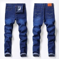 new jeans mens straight pants stretch business denim pants mens moto jeans slim fit straight denim pants distressed trousers