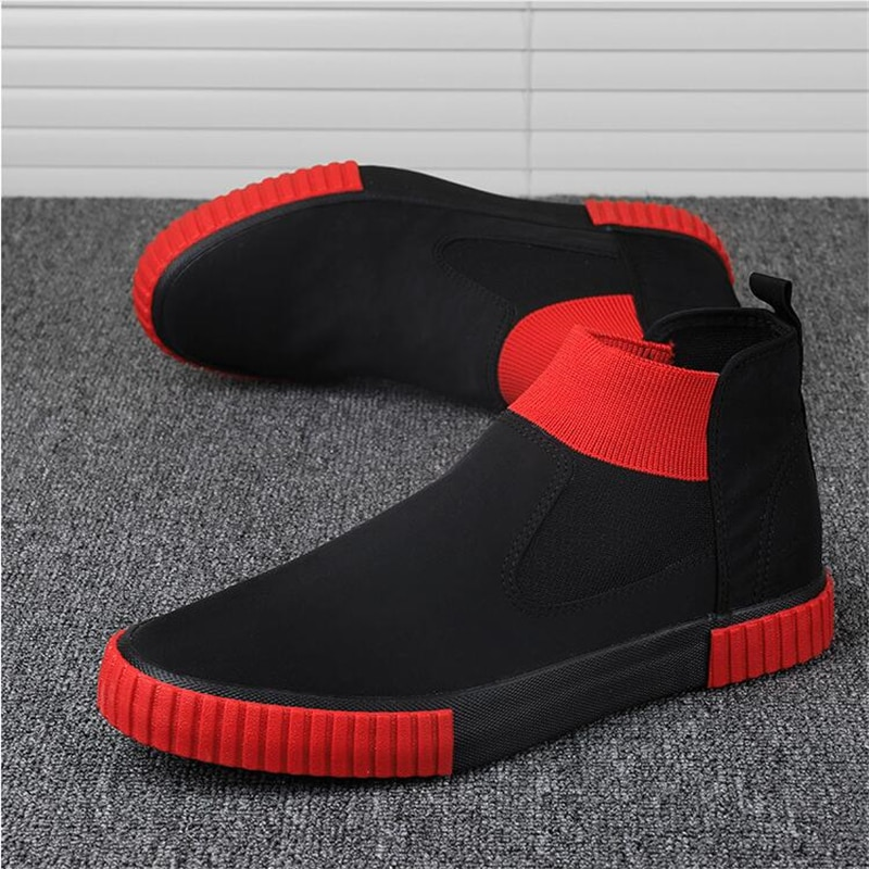Canvas Trainers Slip-on chunky Sneakers for Men High Top Shoes Espadriles Trending 2021 Fashion Men Casual Shoes Man Sneaker