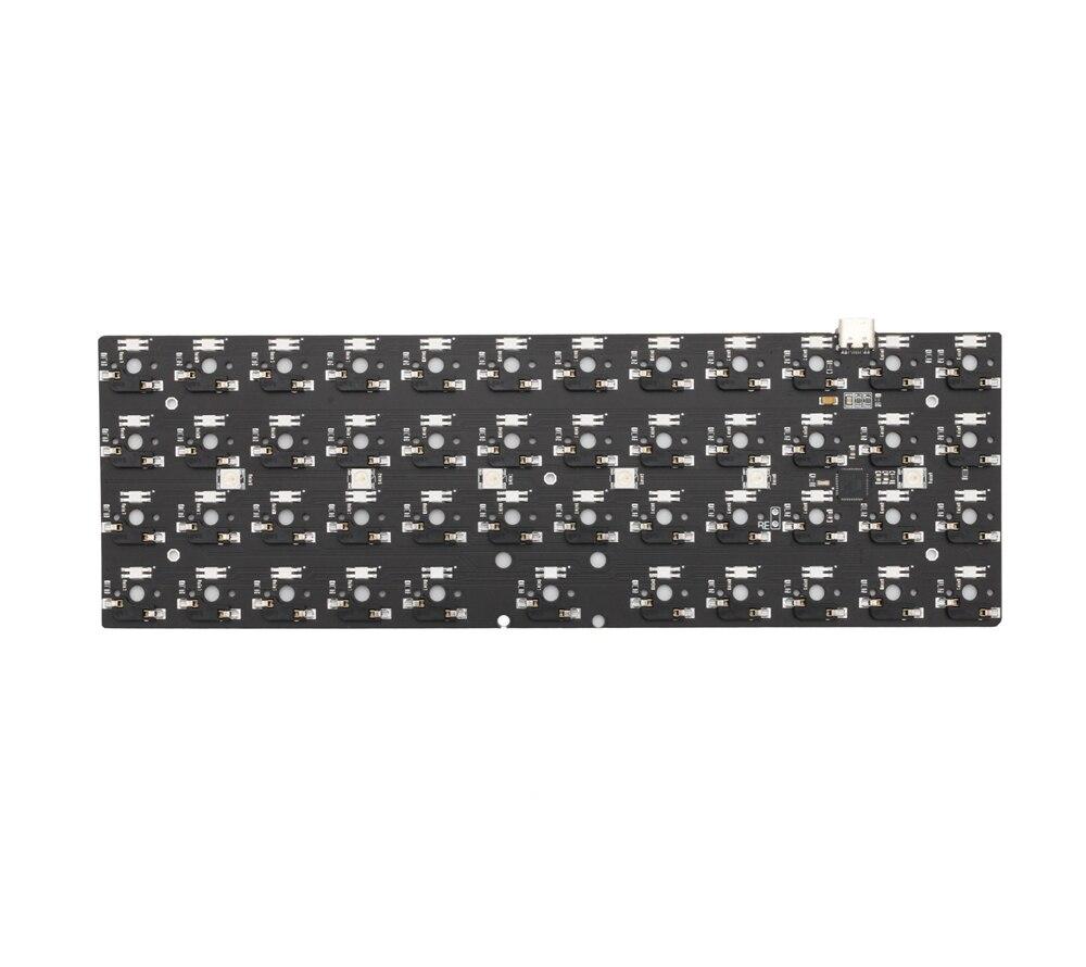 bm40rgb bm40 rgb 40% hot swappable Custom Mechanical Keyboard PCB programmed qmk firmware rgb switch underglow type c planck enlarge