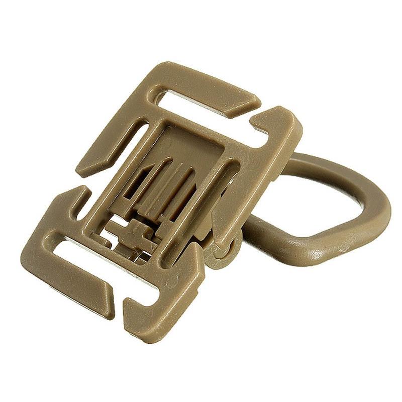 1Pc Plastic Clip Carabiner Sternum Strap Swivel D-Ring Rotation Buckle Webbing Locking EDC Gear Outdoor Tool
