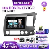 android 10 0 2 din car radio multimedia video player for honda civic 2005 2012 rdh gps navigation 8 core head unit with frame