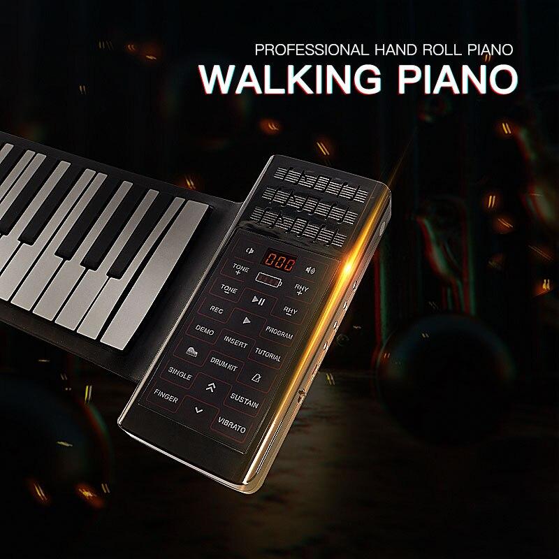 88 клавиш пианино клавиатура силиконовая рулонная pinao музыкальный инструмент с