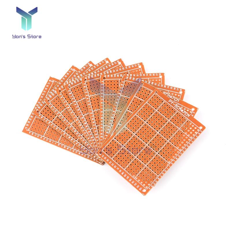 5 шт., универсальная печатная плата 5*7 см 5*7 см 5x7 см 5x7 см 5x7 см