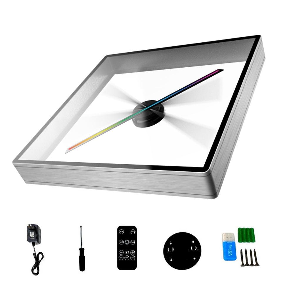 ثلاثية الأبعاد الثلاثية الأبعاد الإسقاط الحائط LED تسجيل مصباح ثلاثي الأبعاد لاعب العين المجردة Led مروحة 8G TF دعم MP4/AVI/GIF/JPG/PNG