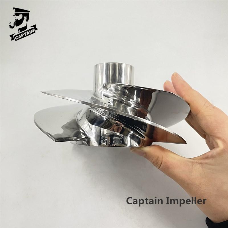 Captain Jet Ski Impeller 267000940 Fit Seadoo BRP GTI LTD 155 / GTI SE 155 155.5mm 4 Blades Polished enlarge