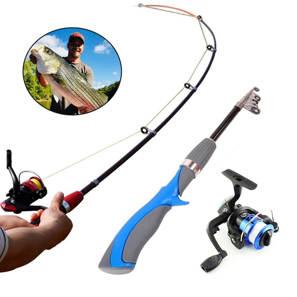 Caña de pescar de mano telescópica de fibra de carbono de alta calidad, caña de pescar de viaje de 2,7 M-10M, caña de pescar ultraligera para carpa