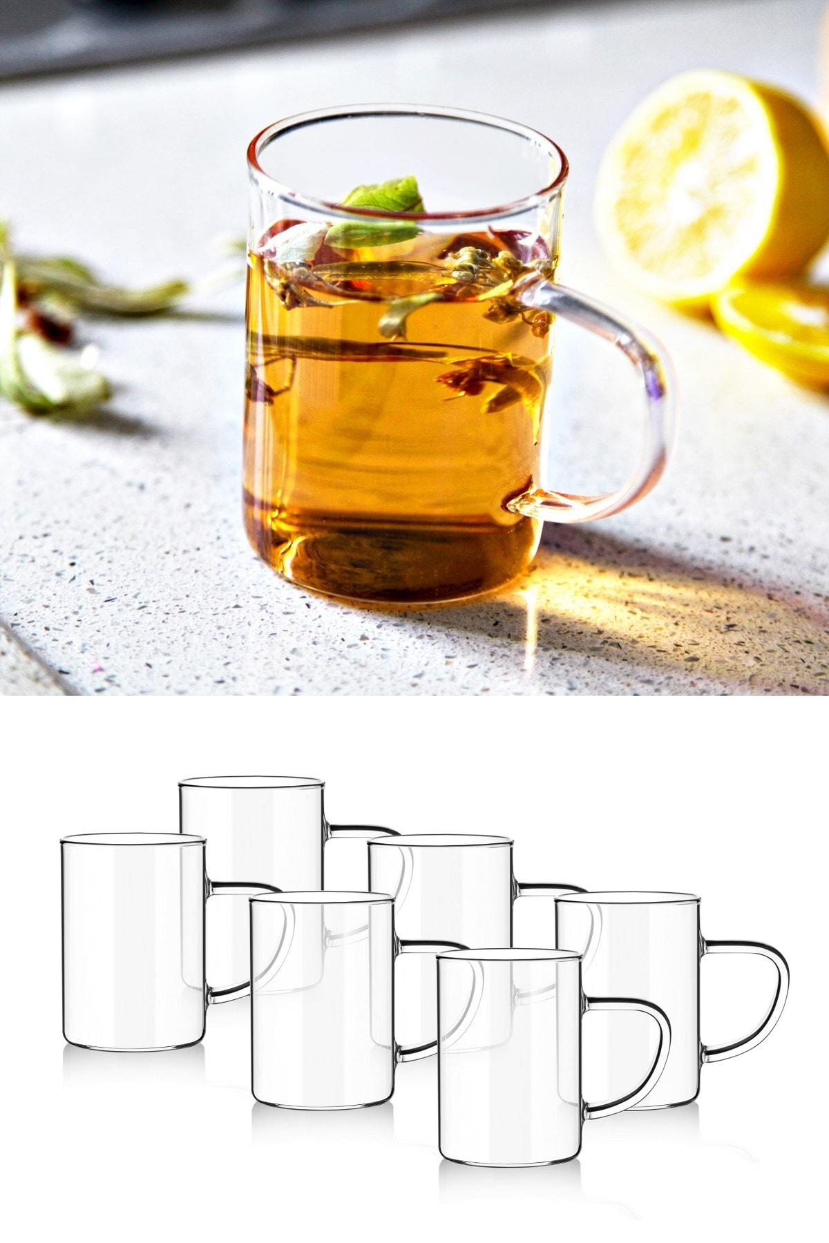 Paçi 6 PCs Borosilicate Heat Resistant Termisil Glass Mug Cup