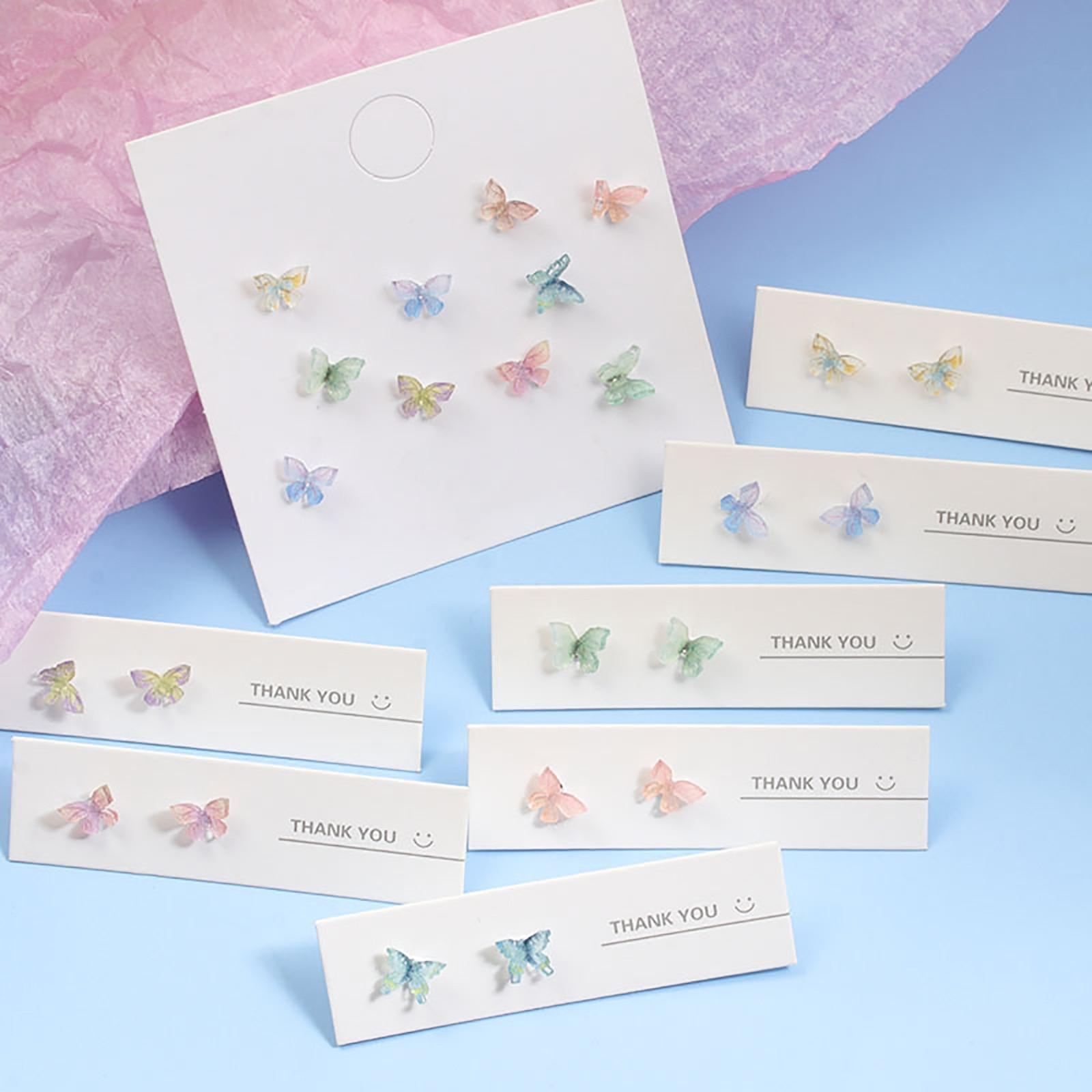 Модные-925-стерлингового-серебра-и-смолы-столб-уха-бабочки-серьги-гвоздики-Набор-для-изготовления-бижутерии-Цвет-бабочка-животный-принт-Биж