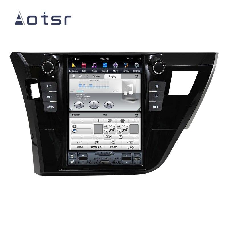 Lecteur voiture sans DVD pour Toyota Corolla 2014   Android Tesla style Toyota Corolla 2015 2016 voiture GPS Navigation multimédia, unité tête enregistreur de bande