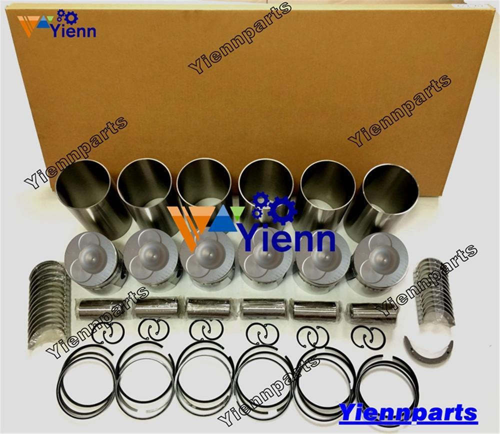 Para HINO W06D W06E W06ET Kit de reconstrucción de revisión 04010-0254 con Kit de junta completa Liner Piston WO6D WO6E WO6ET FC42 piezas de motor