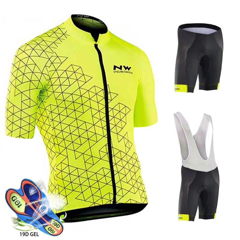 Radfahren Jersey Set 2020 Pro Team Northwave Fahrrad Radfahren Kleidung Männer Mountain Radfahren Maillot Ropa Ciclismo Bib Shorts Set