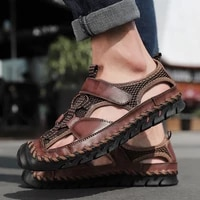 2021 genuine leather men shoes summer new mens sandals outdoor beach fashion sandals slippers breathable classic big size 38 48