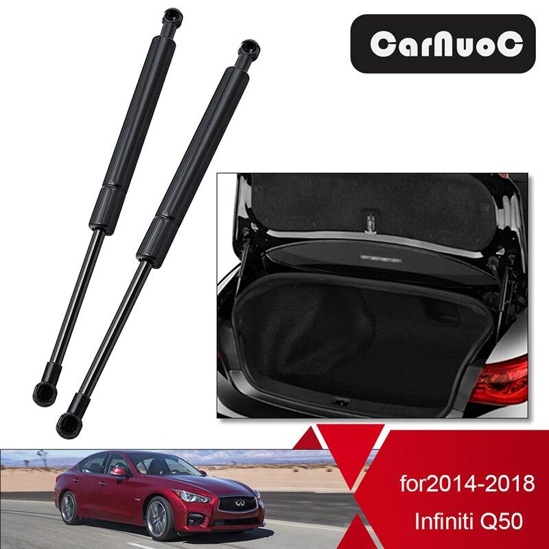2 sztuk akcesoria samochodowe tylny bagażnik podnośnik klapy tylnej wsparcie wiosna Shock amortyzator gazowy dla Infiniti Q50 2014 - 2018 PM3674 3740