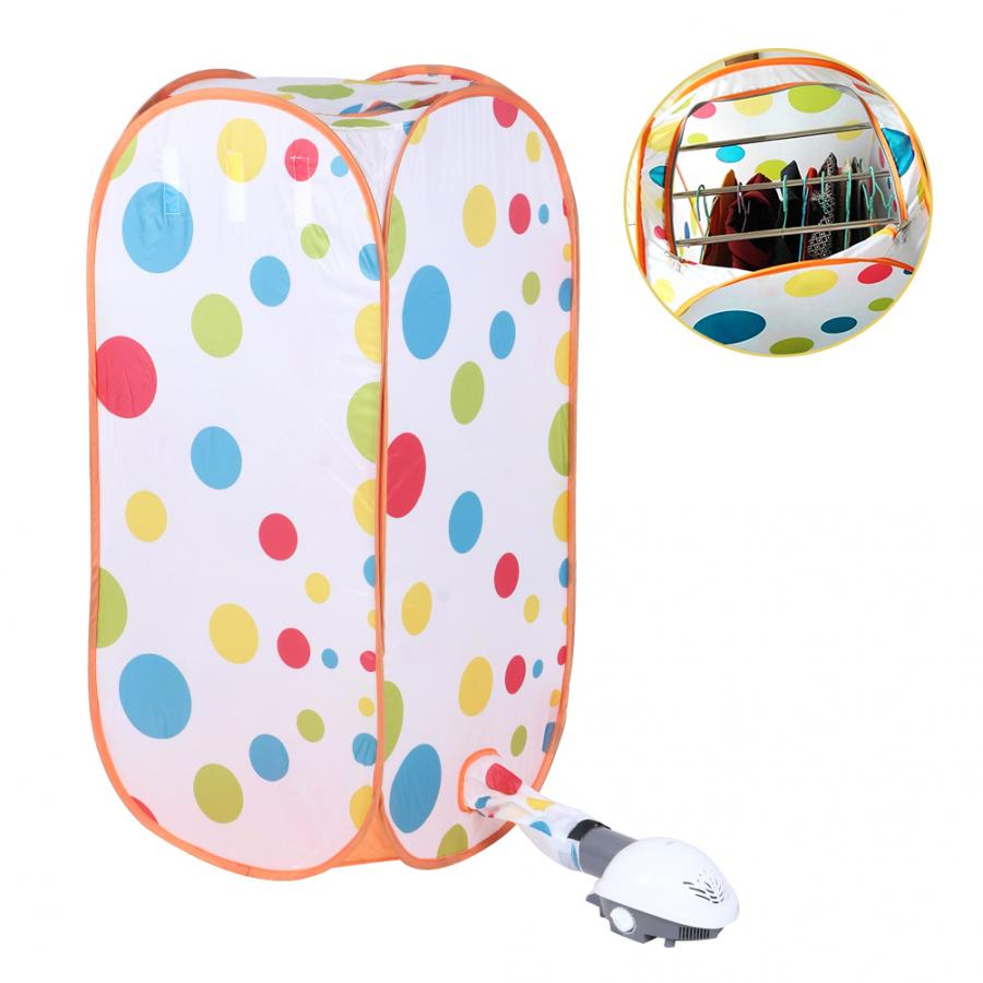800W Clothes Dryer Home Clothes Drying Bag Portable Folding Electric Dryer Machine with Hot Air Pump недорого