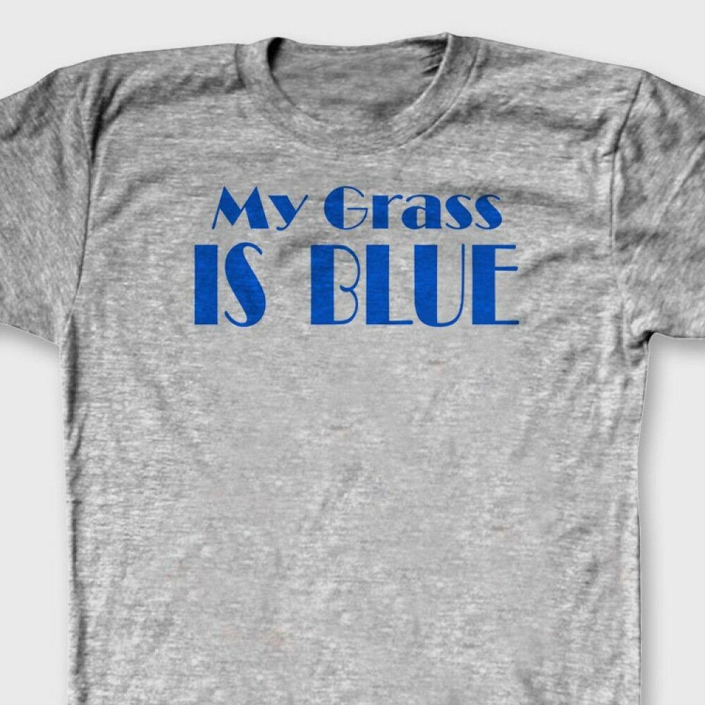 MY GRASS IS BLUE bluegrass Music Banjo T shirt Country Mandolin Tee Shirt