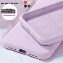 New Original Liquid Silicone Soft Case For Samsung A51 A50 S10 Plus S8 S9 S20 FE S21 Plus Ultra S10E