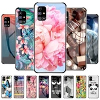 Color Glass Case For Samsung Galaxy M31s Cases Tempered Glass Funda For Samsung M31s M31 s SM-M317F 6 5 inch Painted Bumper