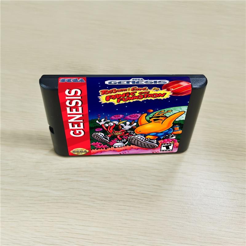 Toe Jam Toejam & Pearl 2 Panic On Funcotron-cartucho de juegos MD de 16 bits para consola MegaDrive Genesis