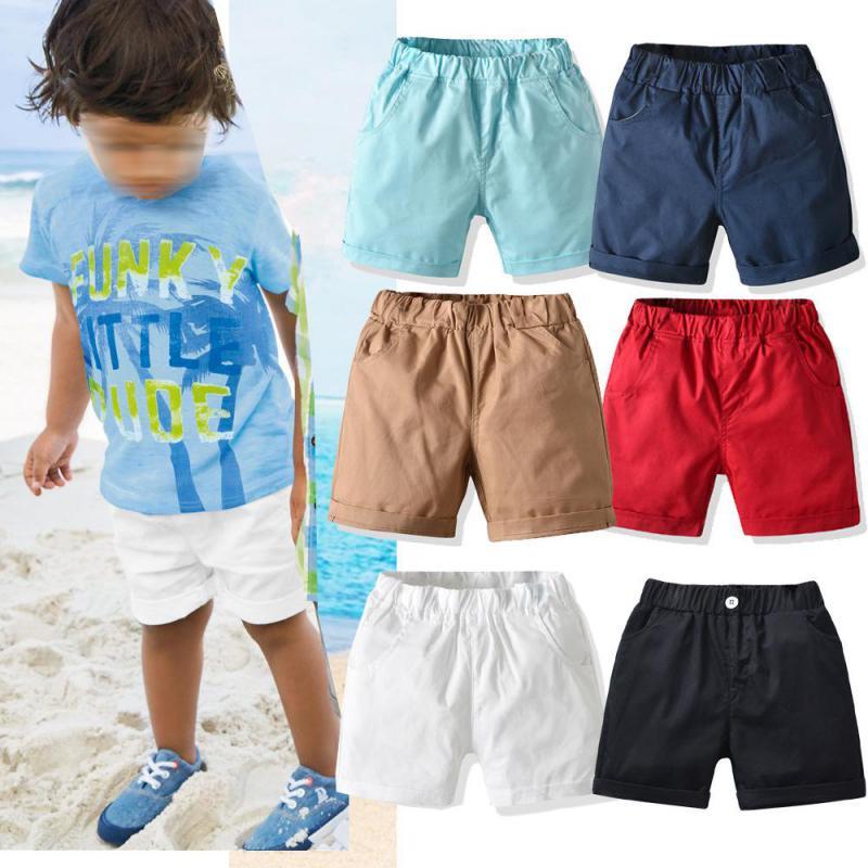 Шорты для мальчиков, хлопковые летние шорты для маленьких мальчиков, тонкие белые черные шорты для малышей, брюки, повседневная одежда базовые шорты для мальчиков
