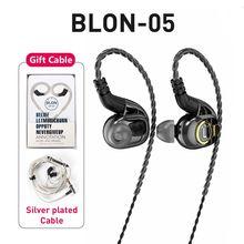 2020 Blon BL-05 BL05 Professional 2nd Generation 10mm Carbon Nanotube Diaphragm High Dynamic HIFI Earphone with detachable Cable