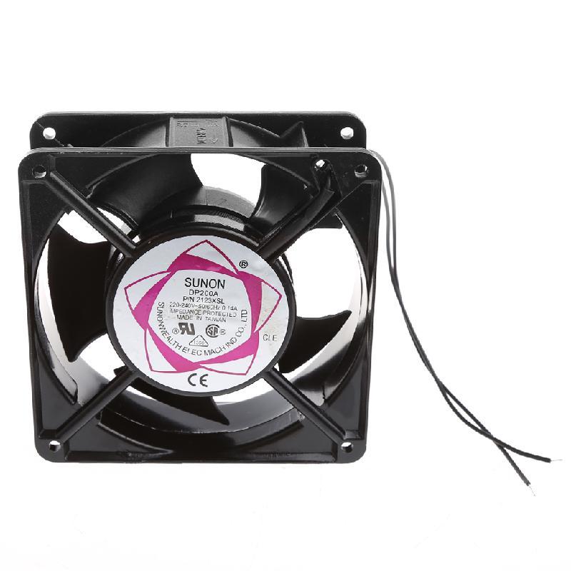 DP200A 2123XSL 12038 120mm cojinete de manga 220-240V AC 2 cables ventilador de refrigeración A6HB