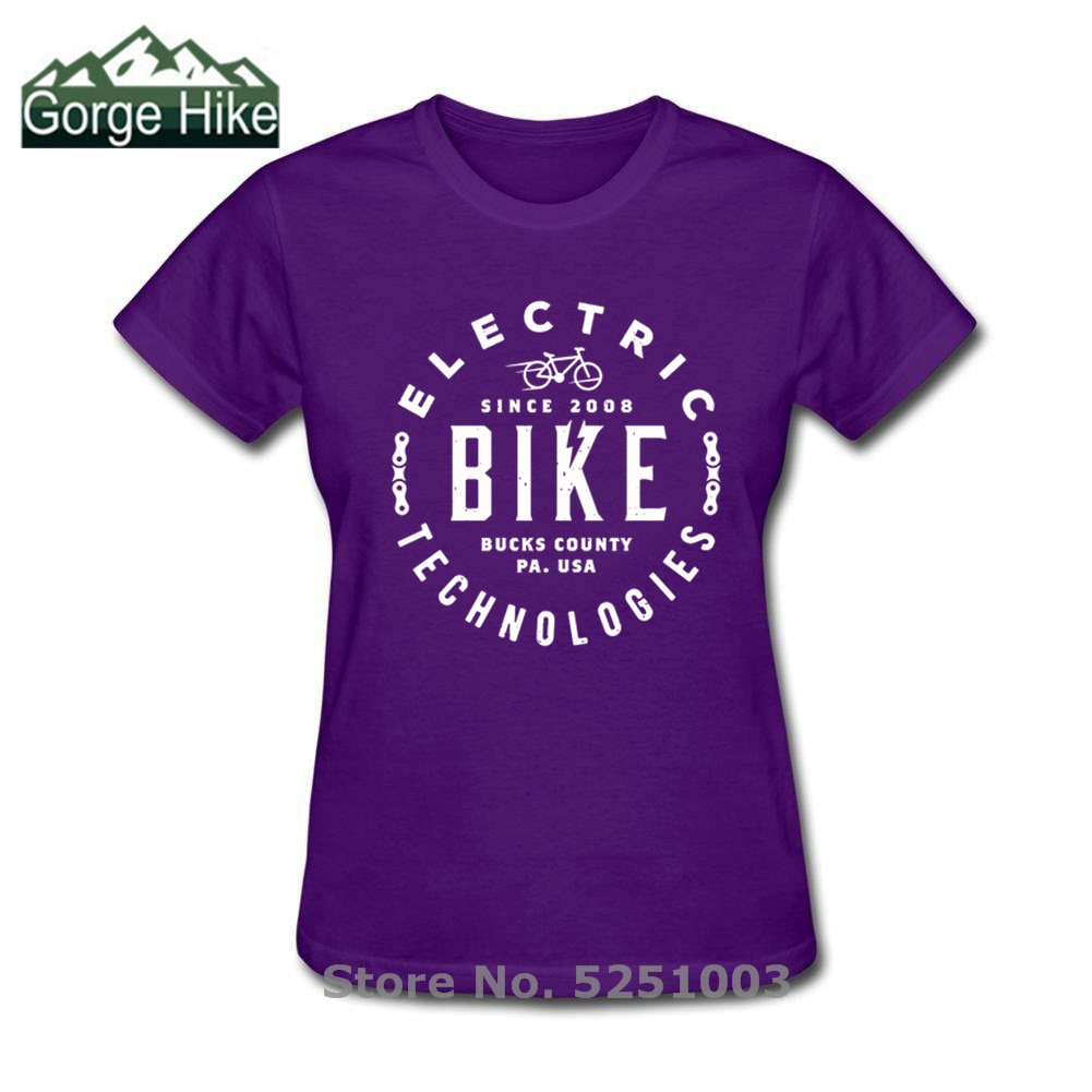 Vintage rustykalne ebiketech elektryczne Techonology Biker T shirt kobiety wycięcie pod szyją bawełniana koszulka z krótkim rękawem MTB Techno Retro Top Tee