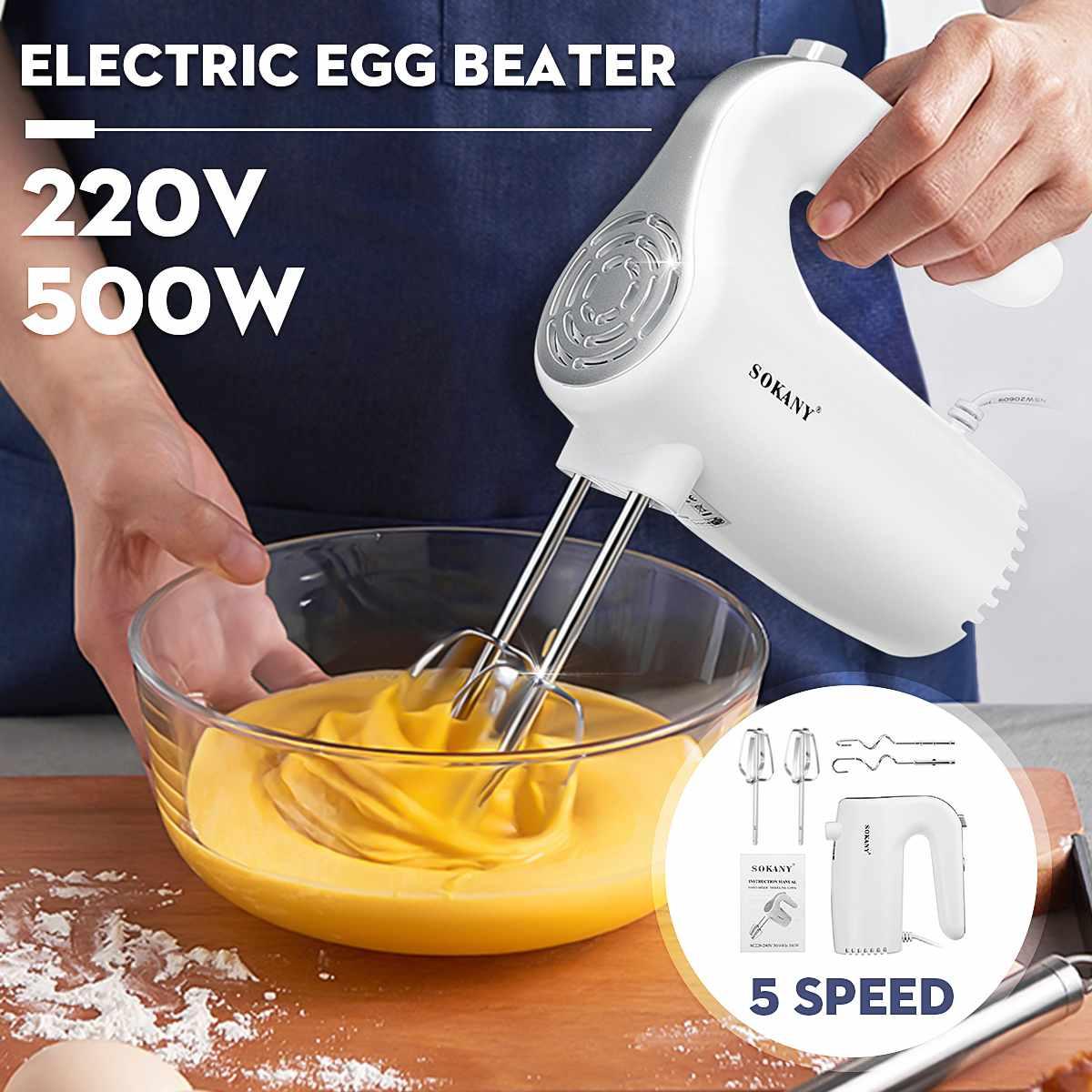 Velocidad de 5 500W de mano eléctrico mezclador batidor para huevos hornear Inicio de mano pequeño Mini crema licuadoras