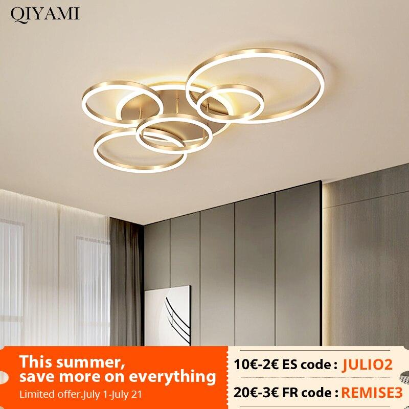 مصباح سقف دائري بتصميم حديث ، إضاءة دائرية مطلية بالذهب الأبيض ، لغرفة المعيشة ، غرفة النوم ، القهوة