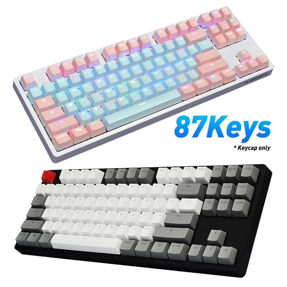 87 шт., набор механических колпачков для клавиатуры, универсальные колпачки для клавиатуры PBT, механические колпачки для клавиш, сменные колп...