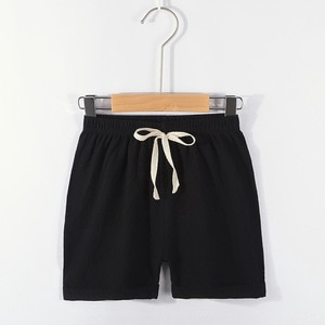 2-6 Years Boys Kids Shorts Summer Linen Drawstring Short Pants for Children Canday Color Loose Pants Toddler Grils Clothing