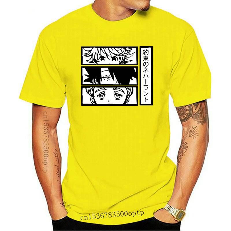New Anime The Promised Neverland Men's T Shirt Emma Manga Norman Ray Anime T-Shirt Unisex