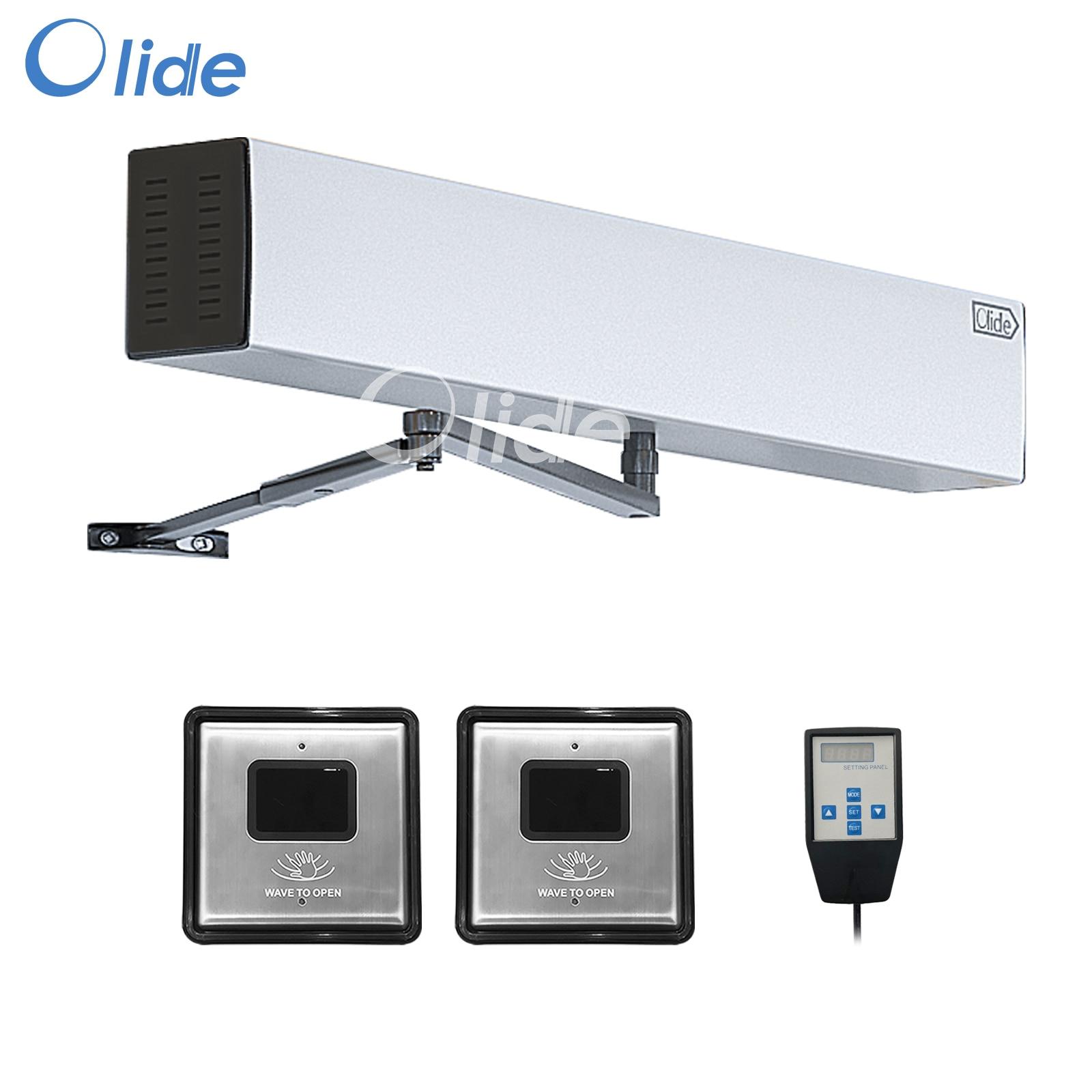 Olide Touchless استشعار مفتوحة التلقائي سوينغ الباب ، زوج مع 2 قطعة السلكية مربع Touchless موجة الاستشعار مفاتيح