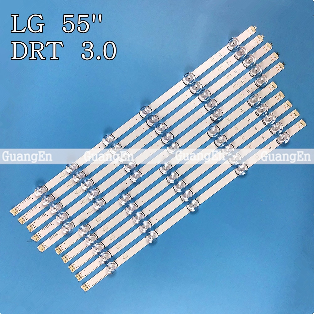 10 قطعة LED الخلفية قطاع 11 مصباح ل LG 55