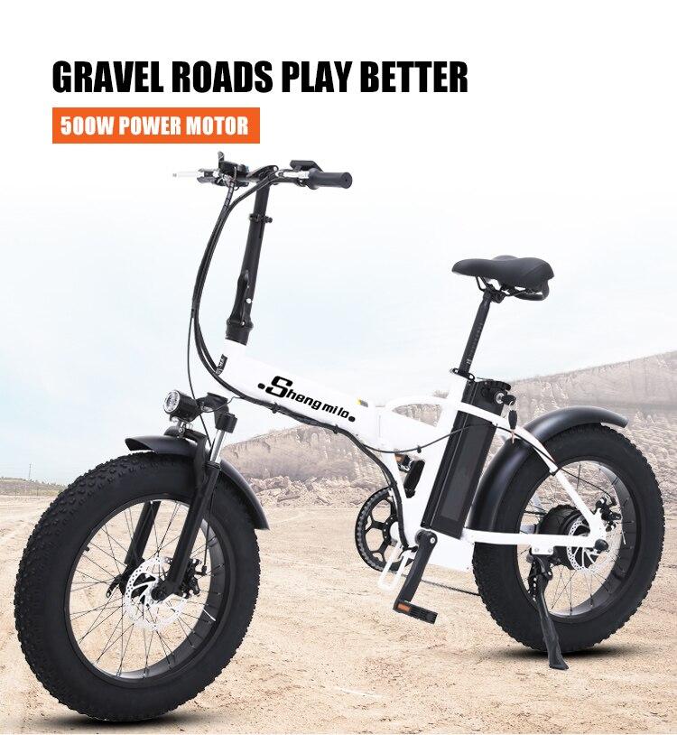 Ebike elektrische bike 500W 4,0 fett reifen elektrische fahrrad beach cruiser bike Booster fahrrad klapp 48v 15AH lithium--teig