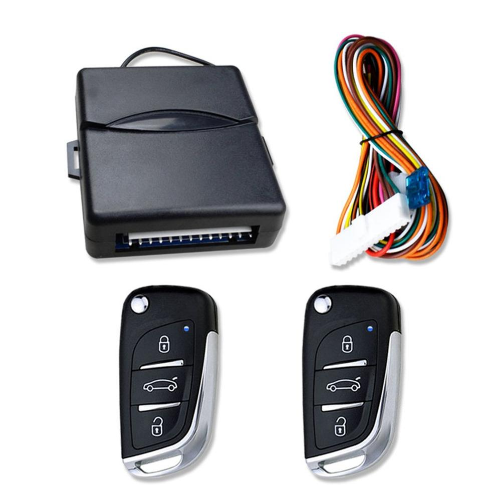 Universal Car Auto Keyless Entry System Button Start Stop LED Keychain Central Kit Door Lock with Remote Control universal car alarm system driving security push button engine start rfid lock ignition starter with remote keyless entry system