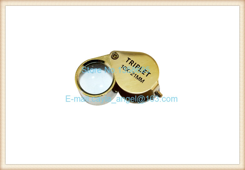 Diy Free Shipping Golden Magnifying Glass Jewelry Antique Text round magnifying jeweler Tools Equipment