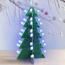 DIY Weihnachten Baum LED Elektronische Leiterplatte Ornament Lampe für Festliche Dekoration Blau