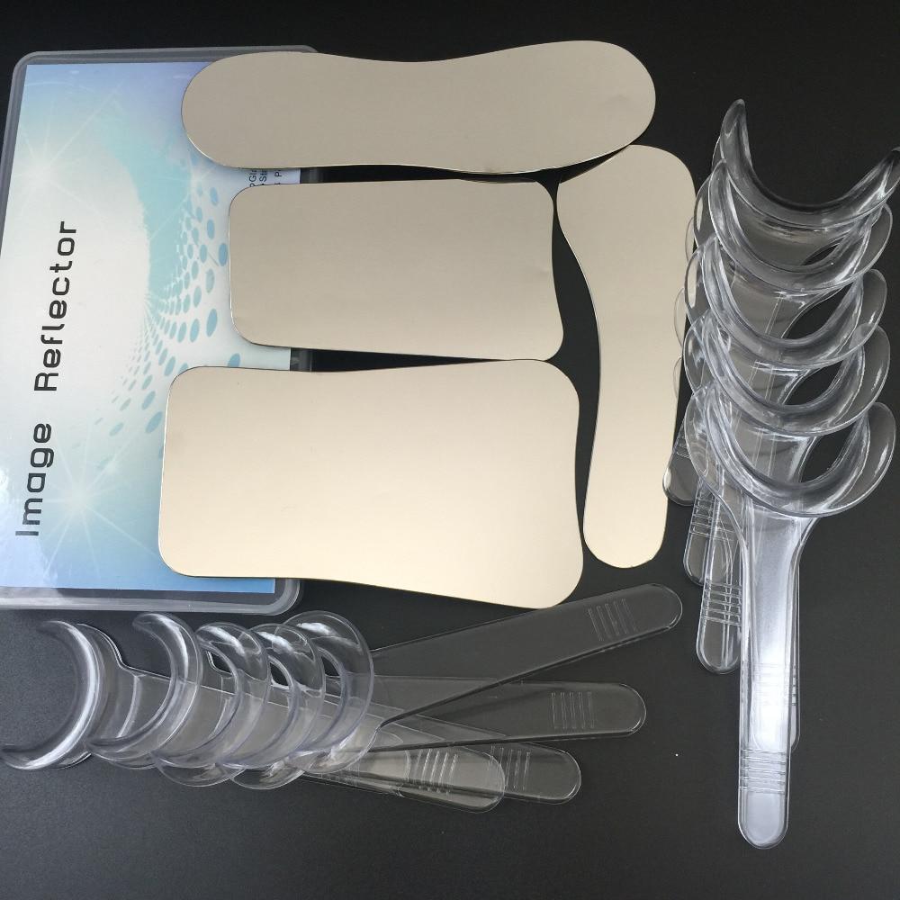 1set/4pcs Intraoral Dental Clinic photography Mirror+ 10pcs Retractor Cheek Lip Mouth Opener