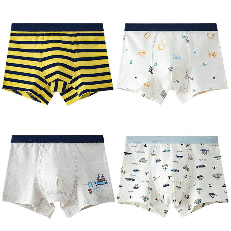 Clase A rayas niños Boxer ropa interior niños ropa de 100% de algodón pantalones cortos de niño de ropa de niños para 3 4 6 8 10 12 14 años OKU203017